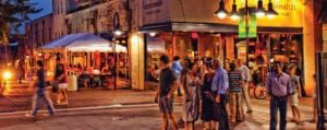 Nightlife on the Downtown Mall
