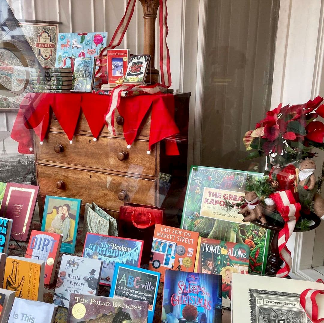Window display of books